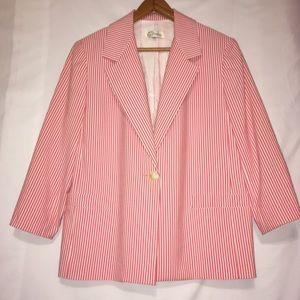 Norm Thompson Striped Women's Blazer